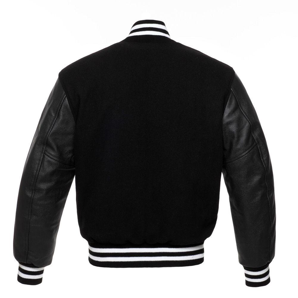 Jacketshop Jacket Black White College Jacket