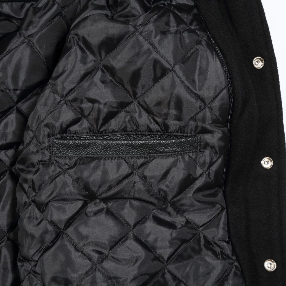 huge selection of 95a29 02dba  C134  Black Wool Gold Leather. see jacket breakdown