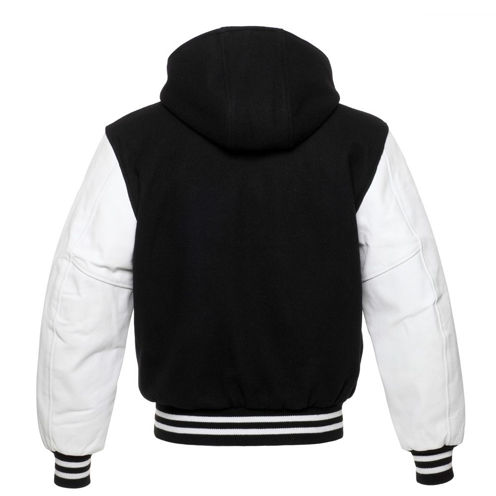 Jacketshop Jacket Hoodie Black Wool White Leather Varsity Jackets