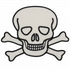 PA323 SKULL CROSSBONES PATCH