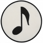 PA318 MUSIC NOTE WHITE