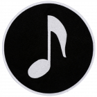 PA319 MUSIC NOTE BLACK PATCH