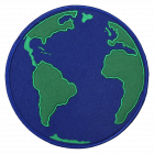 PA320 GLOBE EARTH PATCH