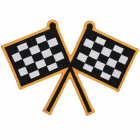 PS106 RACING FLAGS PATCH