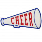PS108 CHEER MEGAPHONE PATCH