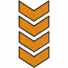 PA306-4 CHEVRON PATCH