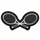 PS135 TENNIS RAQUETS PATCH